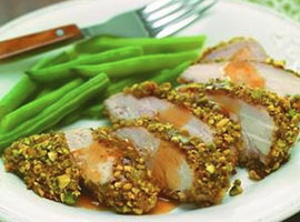 Ginger-Pistachio Crusted Chicken